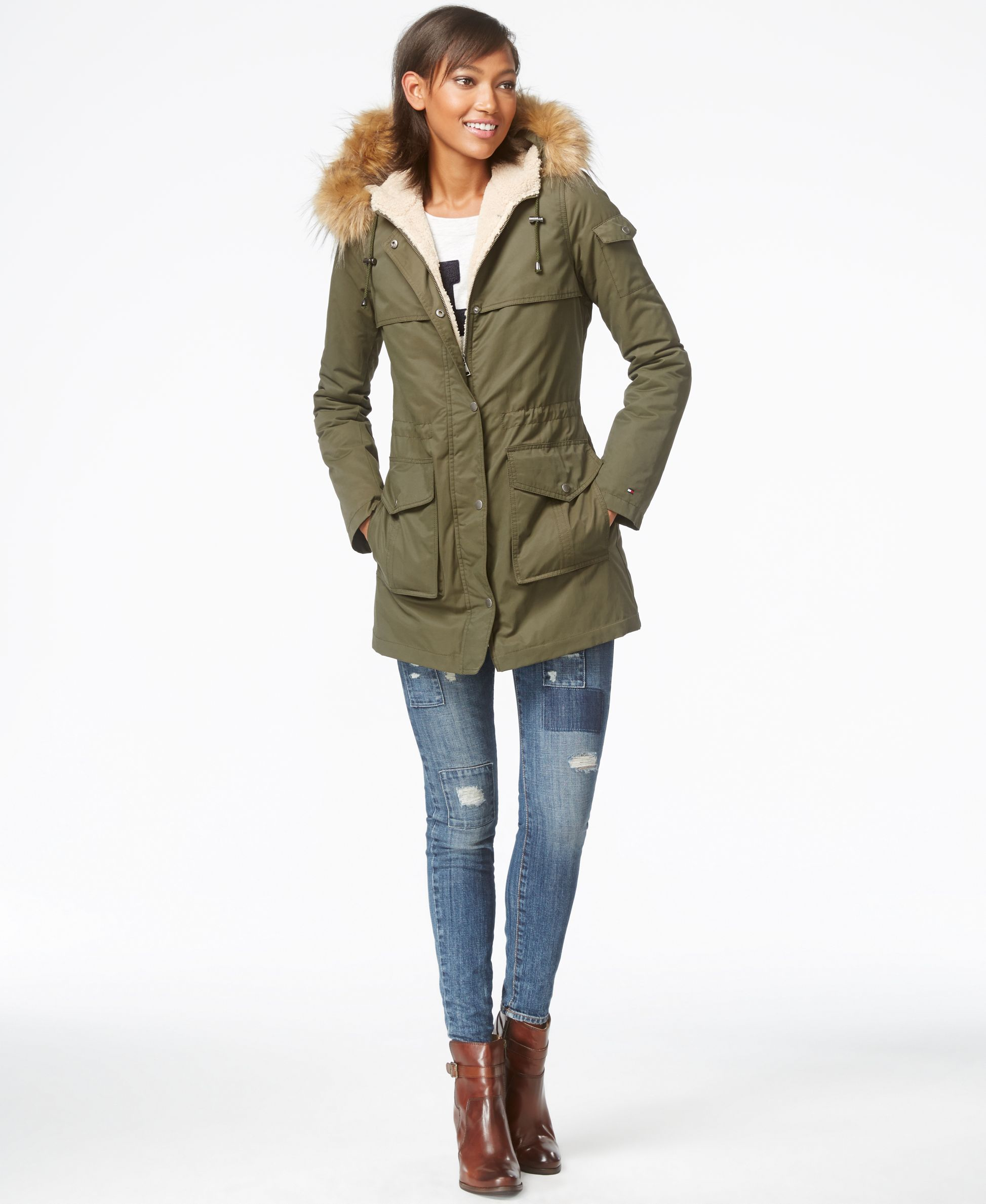 a9fb926b5 Tommy Hilfiger Faux-Sherpa-Lined Anorak Jacket