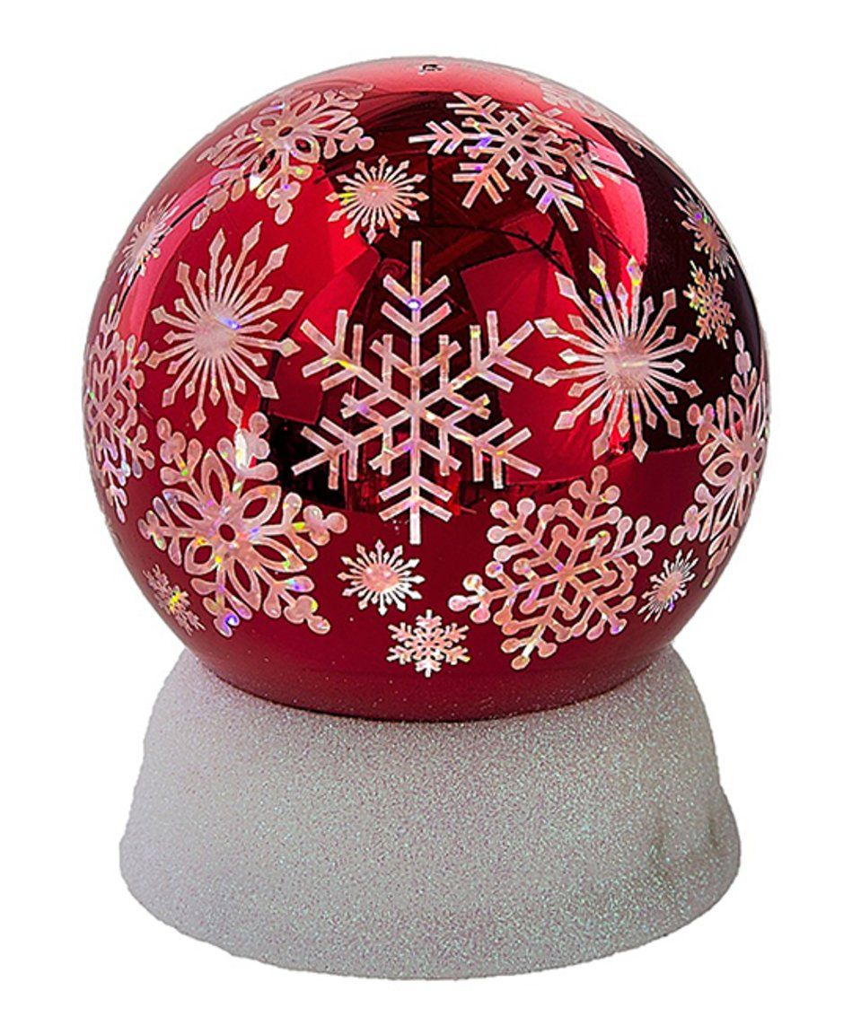 Take a look at this Shimmer Snowflake LED Dome Figurine