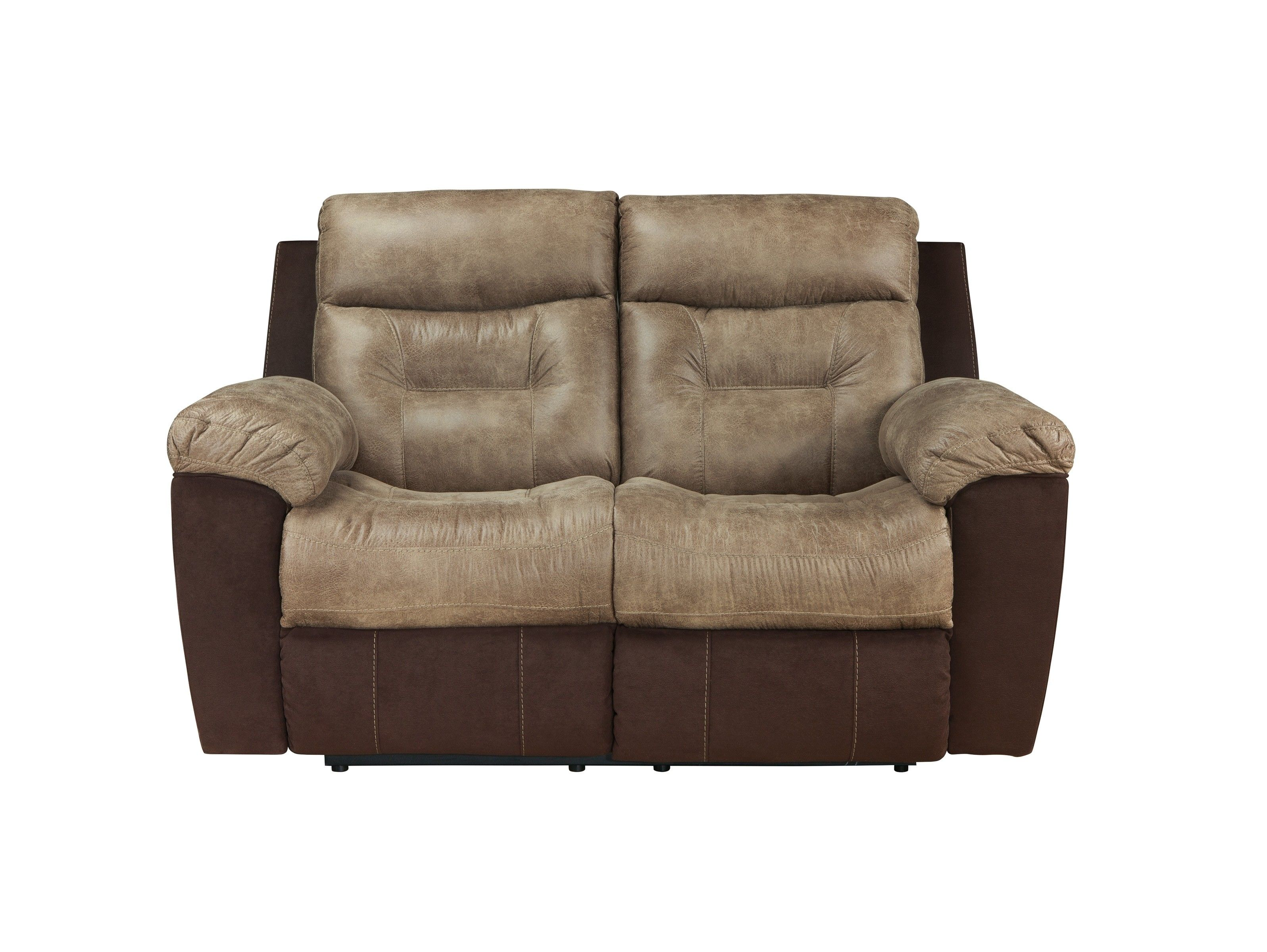 Buy Ashley Furniture Mclaurin Mocha Reclining Loveseat Intended