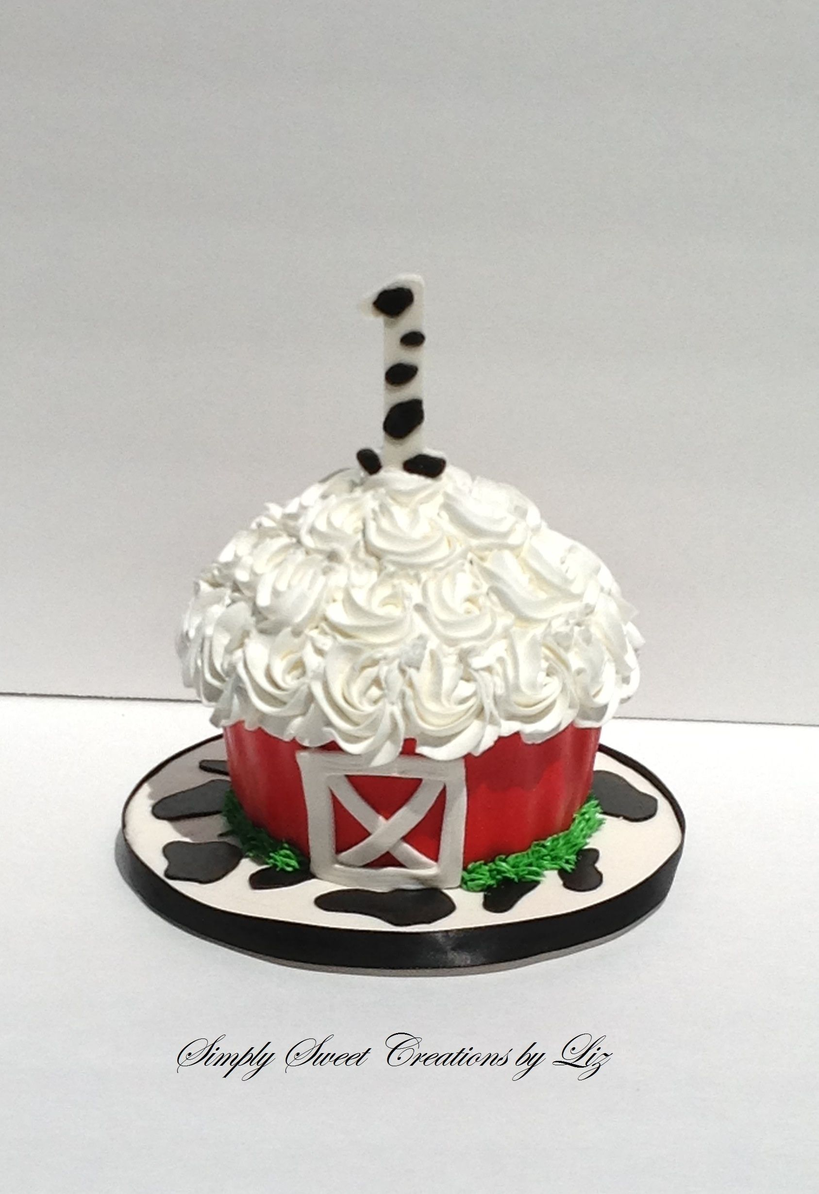 Farm Theme Smash Cake