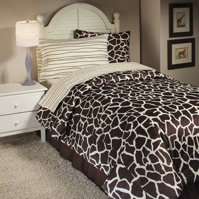 Full Size Giraffe Bedding Set | Safari Bedding | pb ...