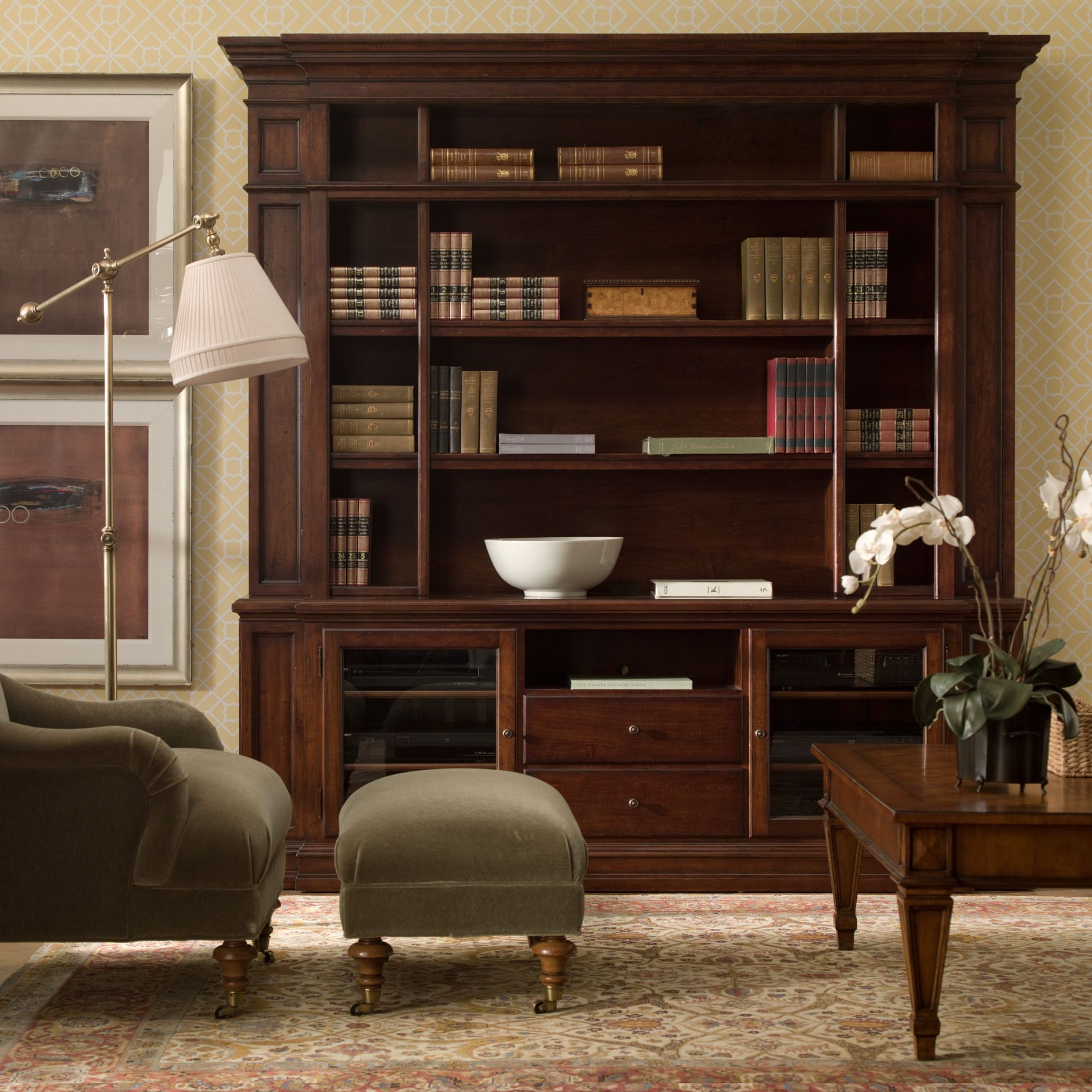 Cambridge Library Ethan Allen es in various custom finishes