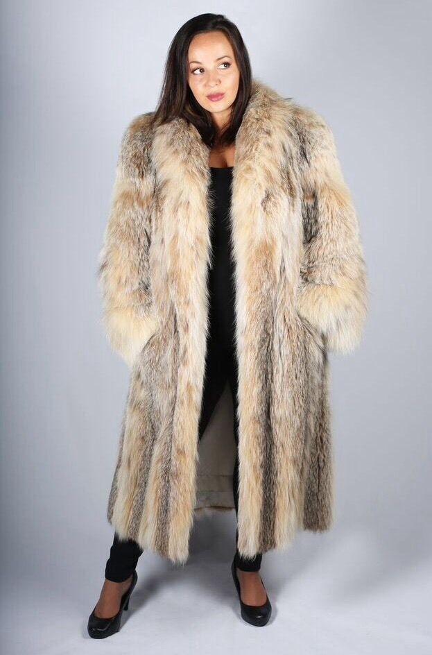 Coyote Fur Coat Womens Large Estate Furs >> Russian Lynx Fur Full Length Coat Sale 2995 00 Fur Coats