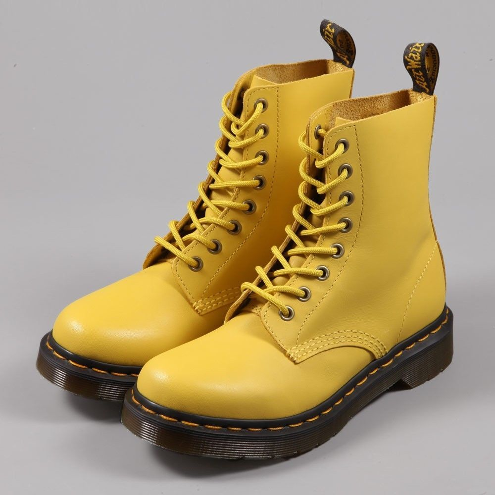 Dr Martens - PASCAL yellow soft leather