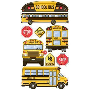 Amazon Com Sticko School Bus Stickers Arts Crafts Sewing School Bus School Bus Clipart