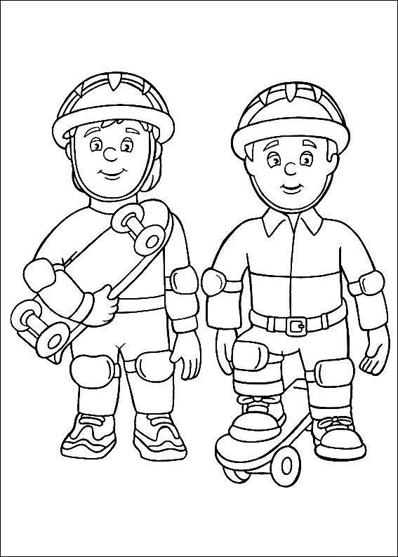 brandweerman sam kleurplaten voor kinderen kleurplaten