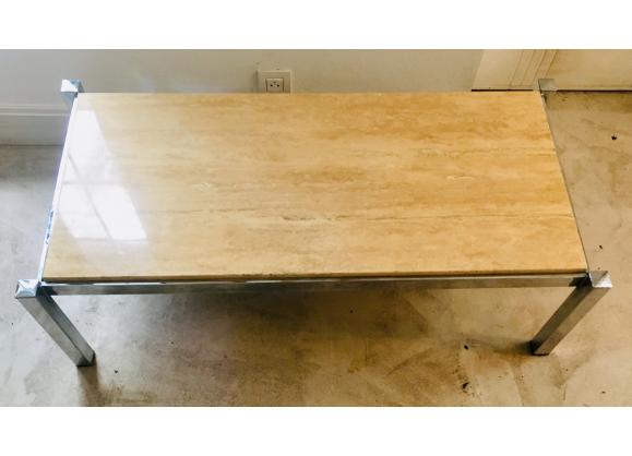 Produit Bhv Table Basse Metal Et Travertin Table Basse Metal Table Basse Travertin
