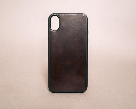 best service f8e4a 45b12 Iphone X case with Burgundy Horween Shell Cordovan leather | black ...