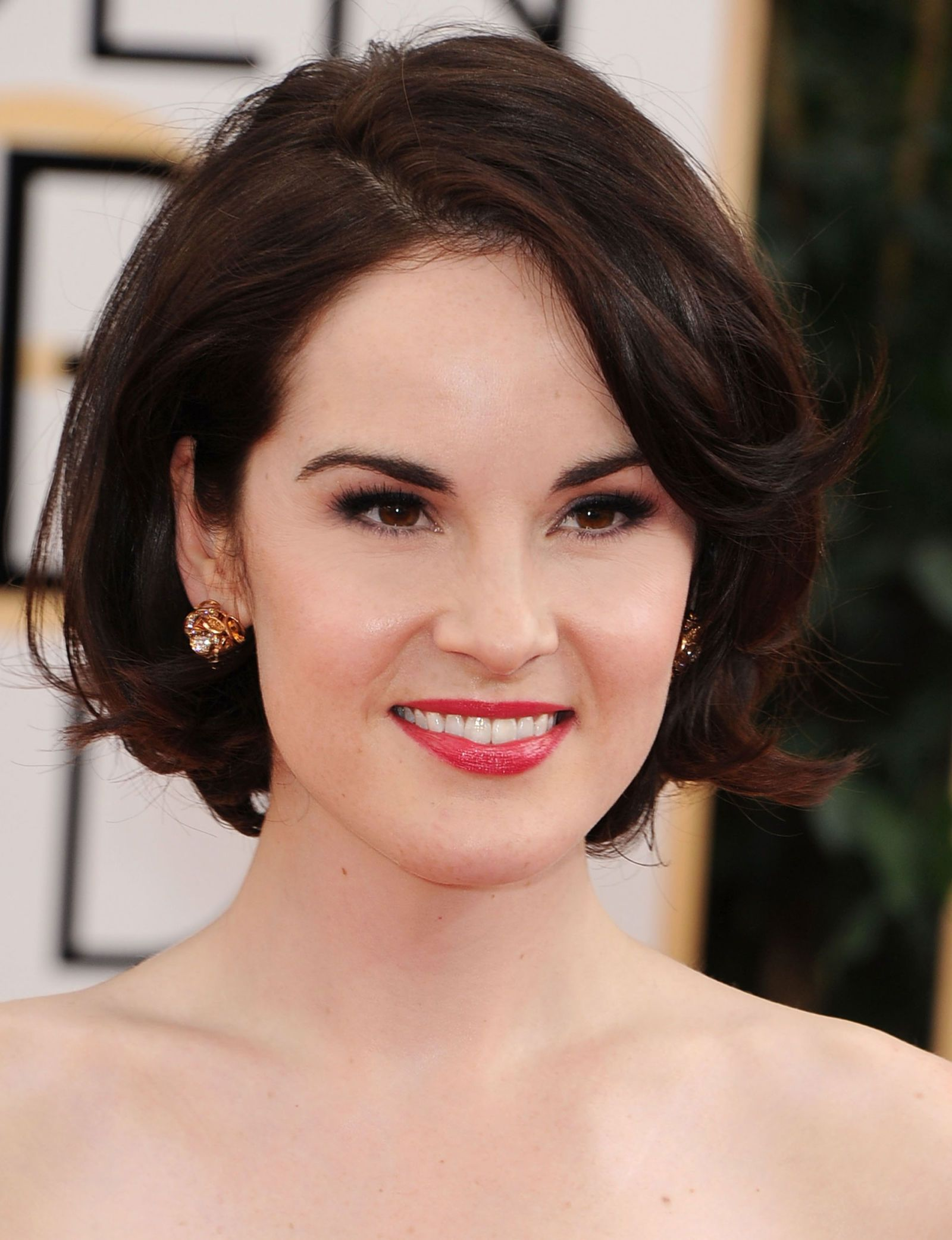 the best bob for your face shape   michelle dockery, hair style