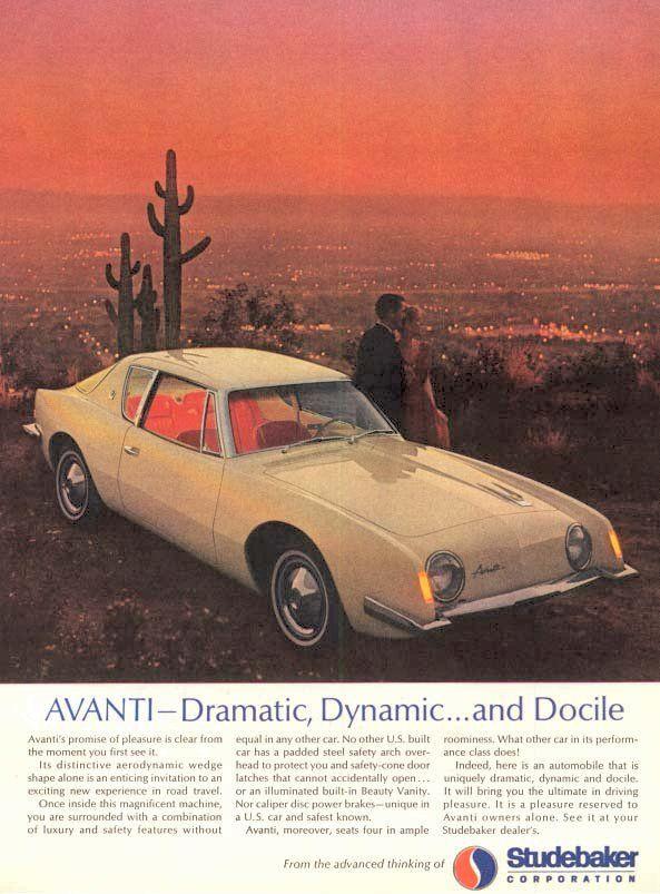 1963 Avanti Ad 01 Vintage Trucks Vintage Ads Old Ads