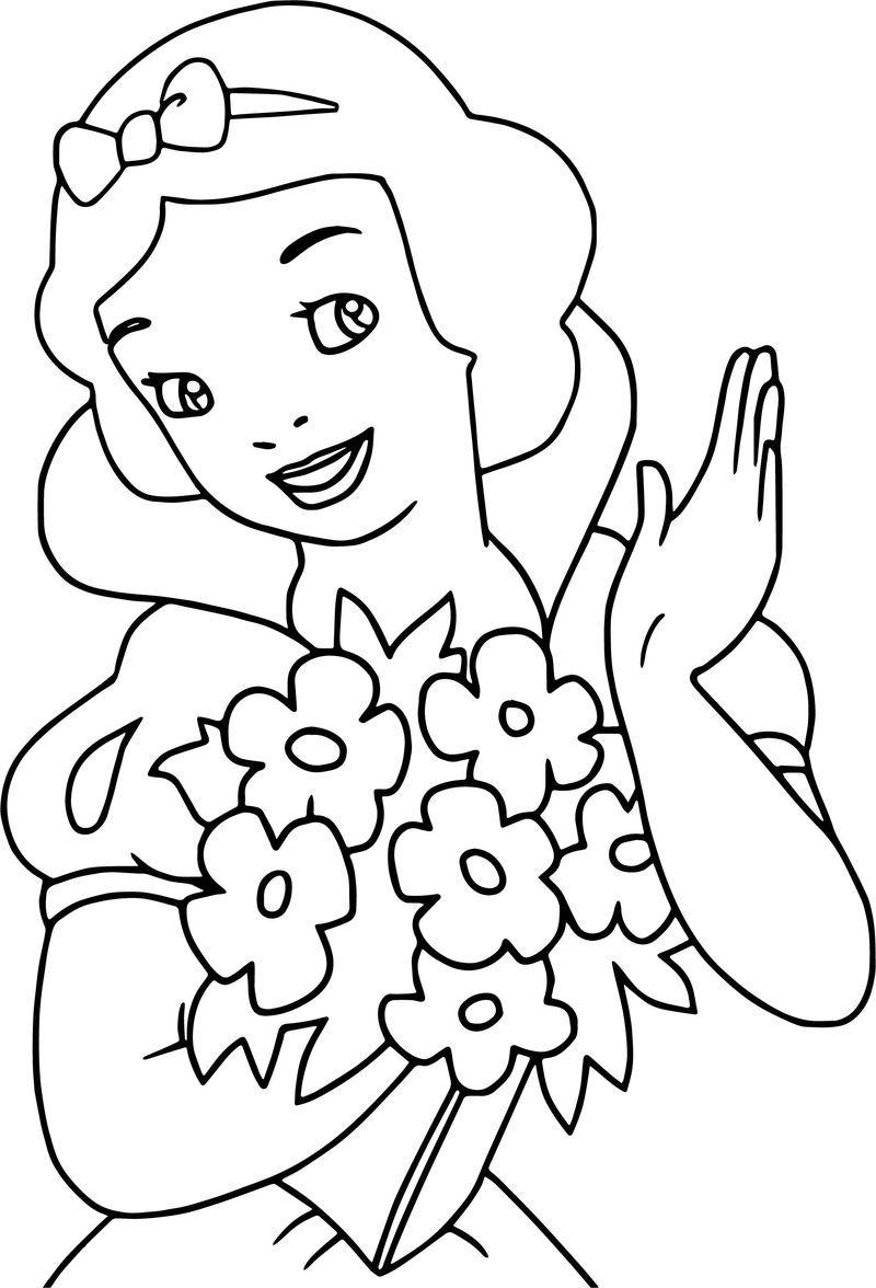 Snow White Bucket Flower Coloring Page See The Category To Find