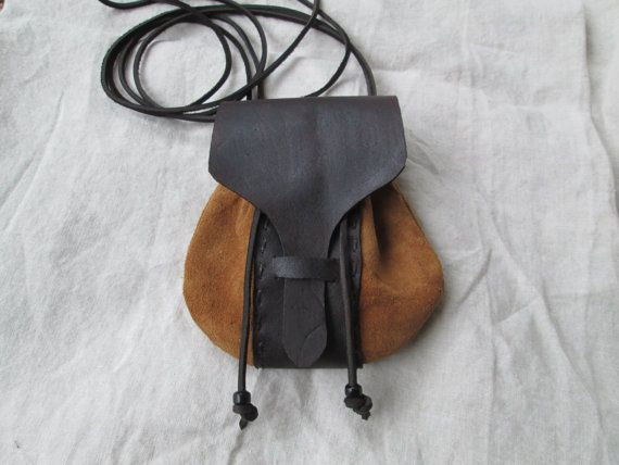 Leather Renaissance Purse W/ Cross Body Handmade And For