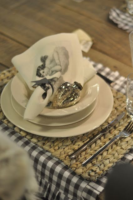 place mat with ruffles - placed the other direction.  Dining Table Decor