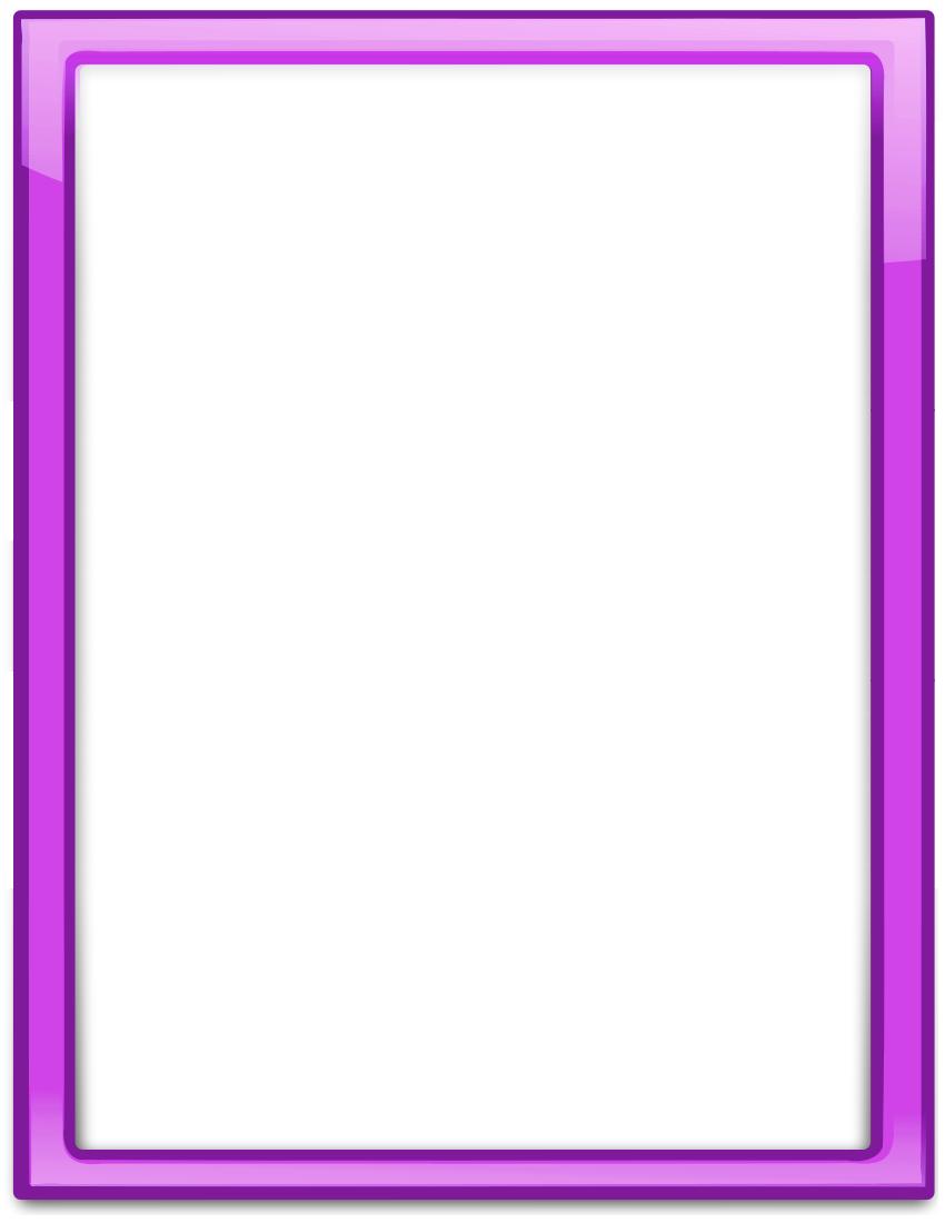Glass Frame Purple Vertical Frame Border Design Page Frames Colorful Borders Design