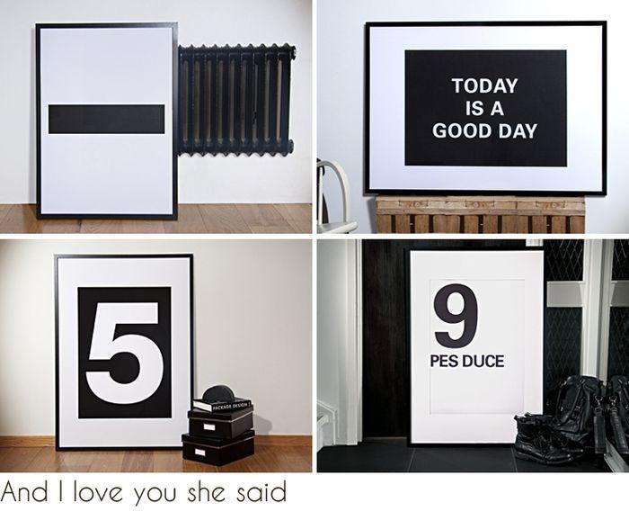 number prints   and I love you she said   landinskan -
