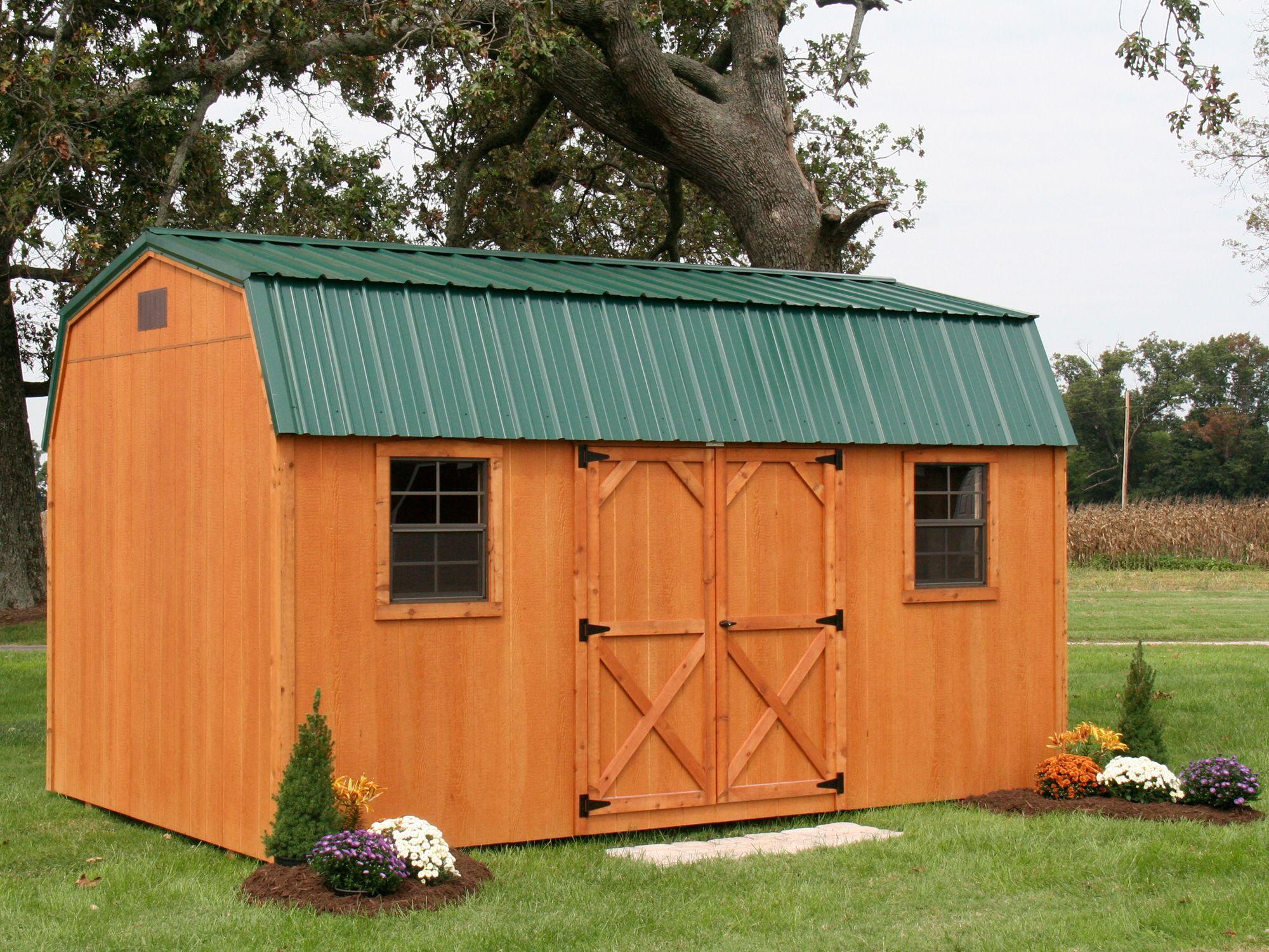 Outdoor garden gambrel sheds