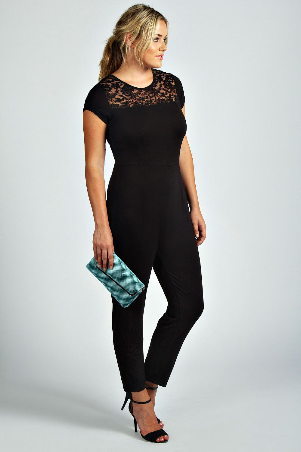 e0e978de268 Anna Lace Detail Jumpsuit at boohoo.com