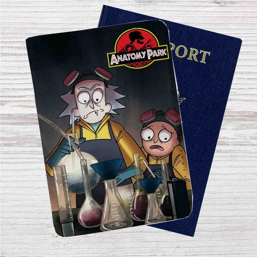 Rick and Morty Anatomy Park Custom Leather Passport Wallet Case ...