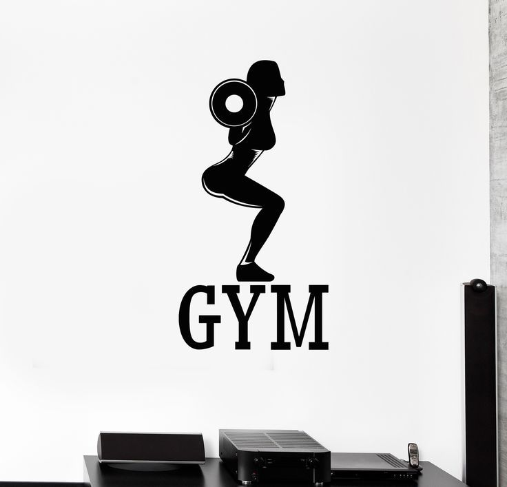 Vinyl Wall Decal Gym Fitness Woman Bodybuilding Sports Girl Stickers Unique Gift (573ig)  #bodybuild...