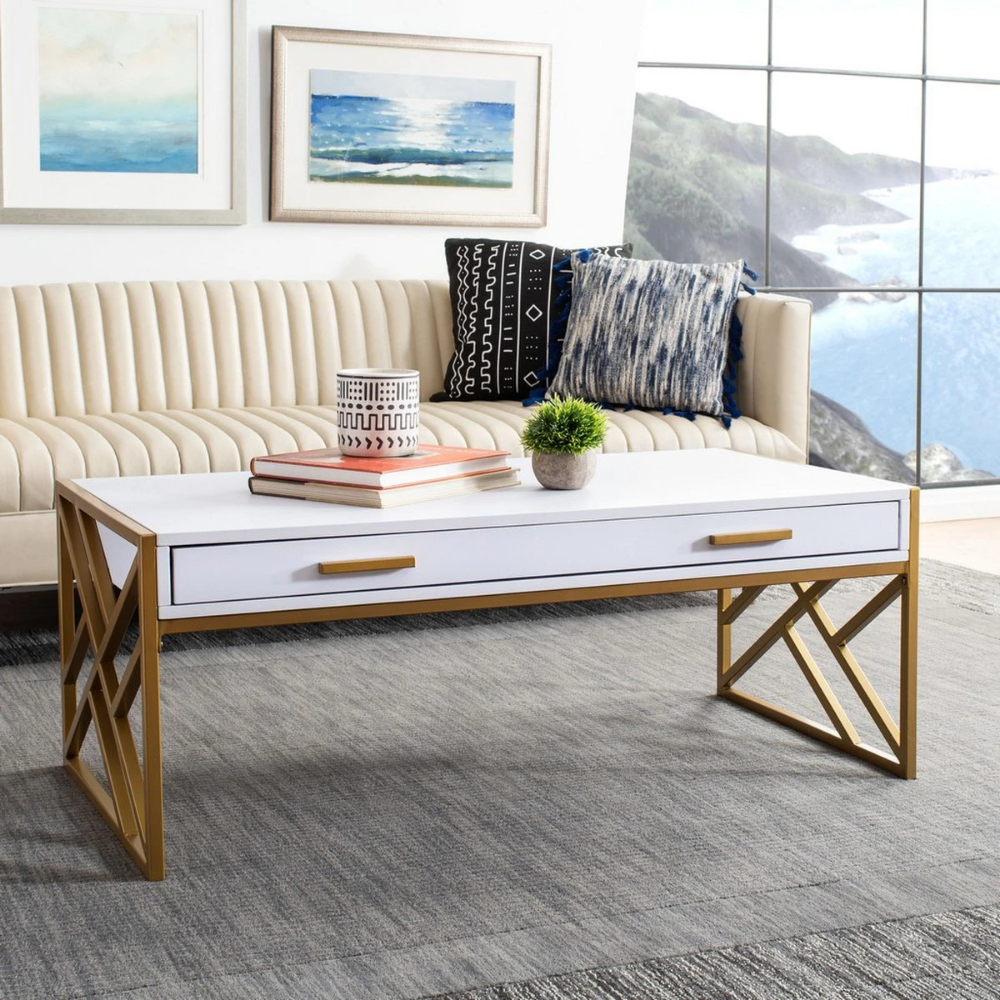 Edie 2 Drawer Coffee Table In 2021 Coffee Table Coffee Table Wood Glam Coffee Table [ 1000 x 1000 Pixel ]