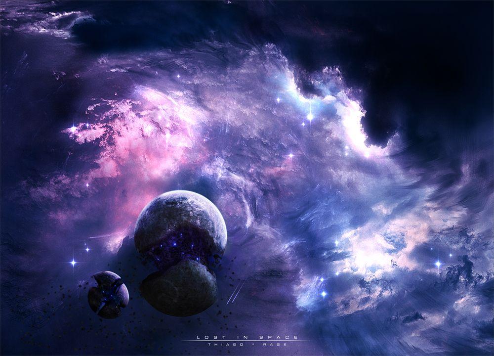 Lost In Space By Thiagochackal Space Artwork 2048x1152 Wallpapers Space Art Wallpaper