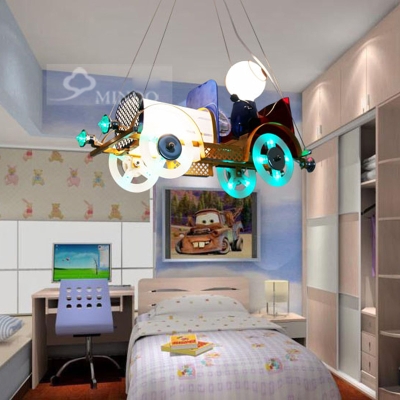 Classic Vintage Cartoon Classic Cars Childrens Bedroom Pendent