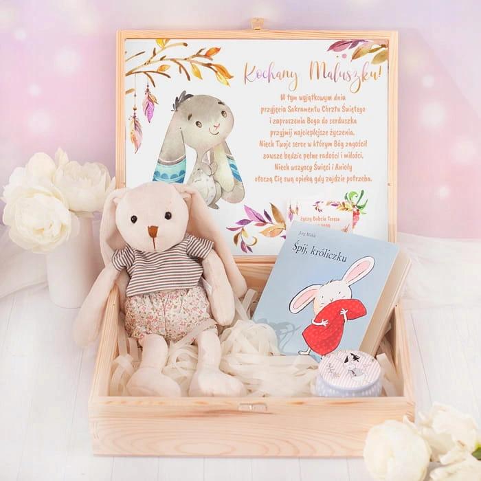 Skrzynka Na Chrzest Spij Kroliczku Dla Chlopca Toy Chest Teddy Bear Gifts