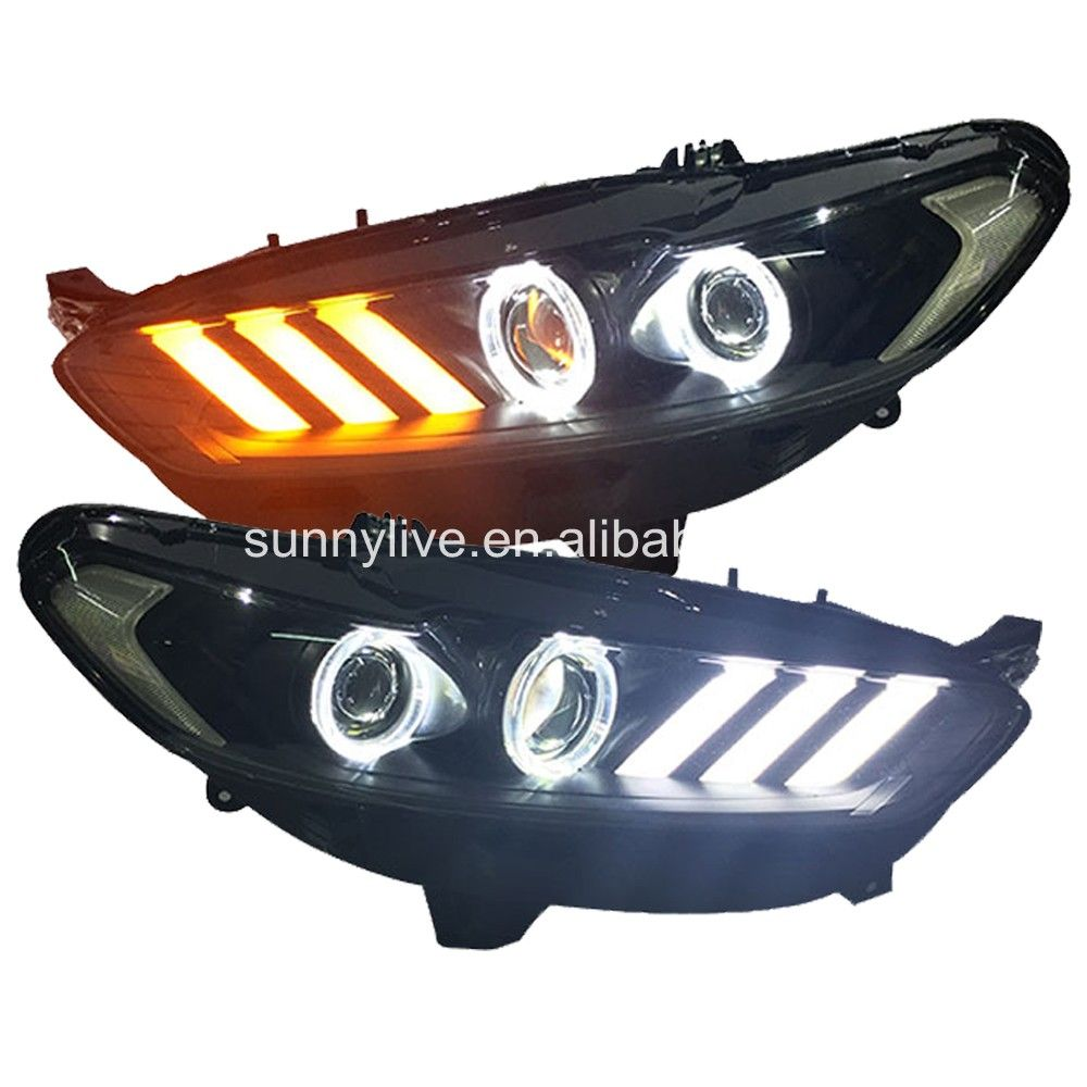 Fusion Titanium Projector Lens Led Light 2013 2015 For Ford 2007 Lights Mondeo