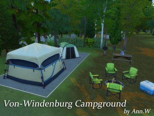 Von-Windenburg Campground - National Park 64x64 | Ann.W's Sims 4