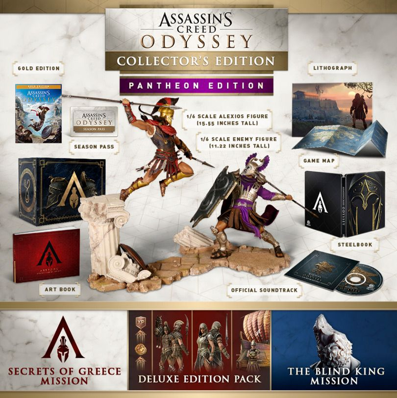 Ac Odyssey Editions And Season Pass Contents Assassins Creed Assassins Creed Odyssey Assassin S Creed