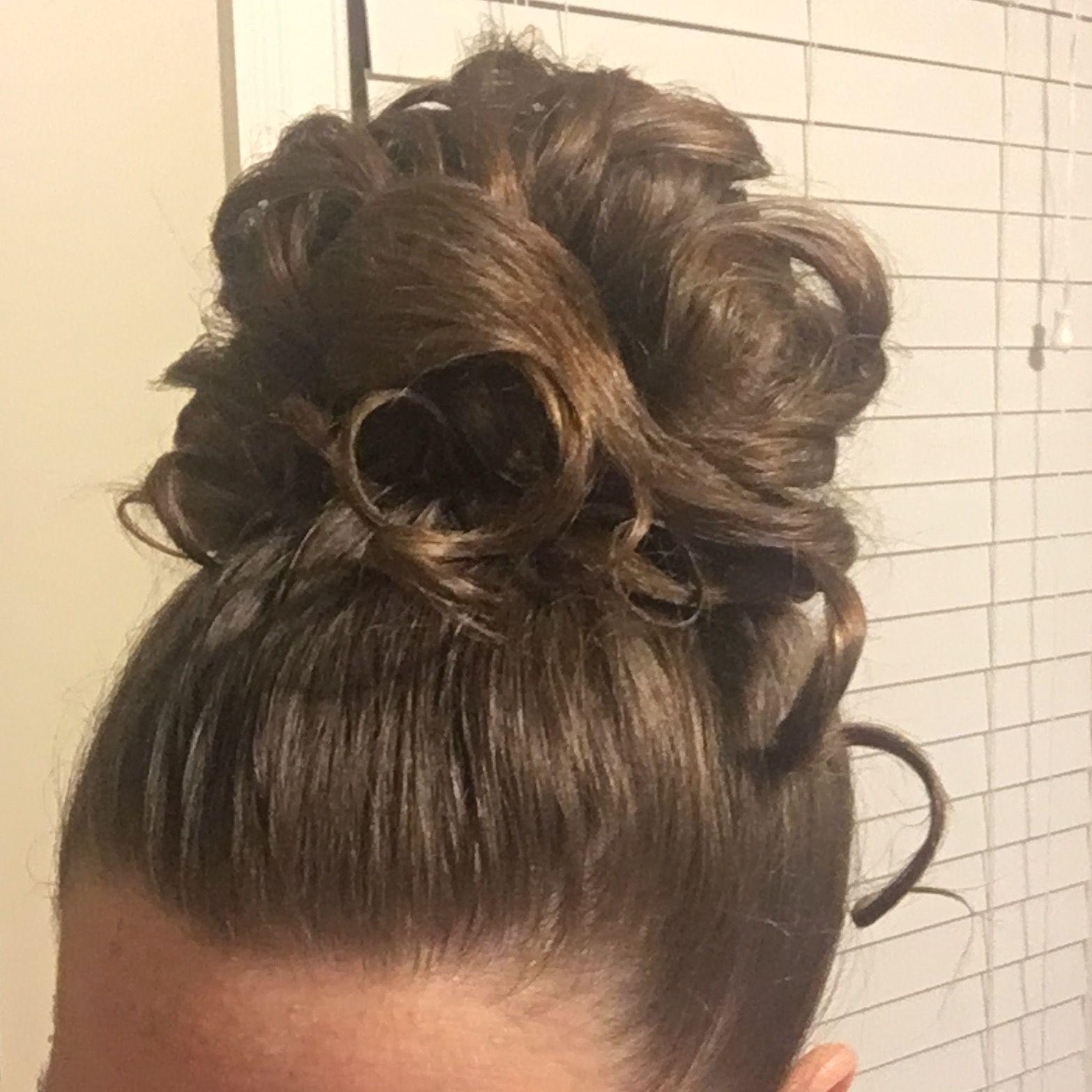 apostolic pentecostal updo hairstyle curled longhair