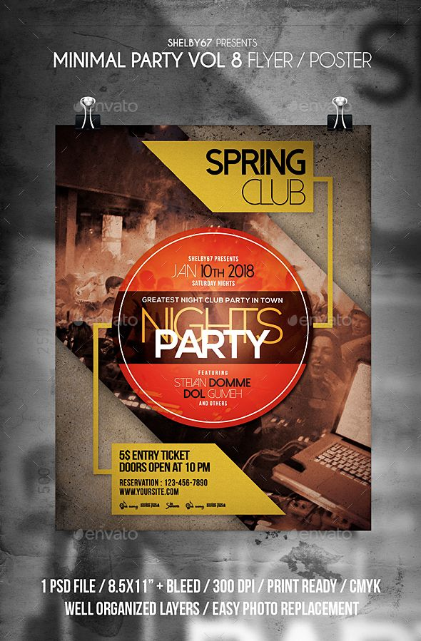 business event invitation templates%0A Minimal  Party  Flyer Vol    Clubs  u     Parties  Events