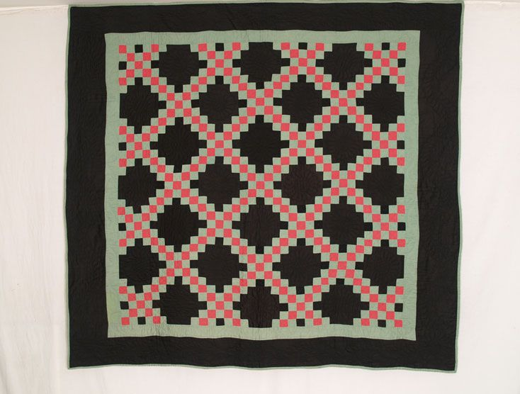 CON TC4 Amish Double Irish Chain | Vintage Quilts | Pinterest ... : amish quilts designs - Adamdwight.com