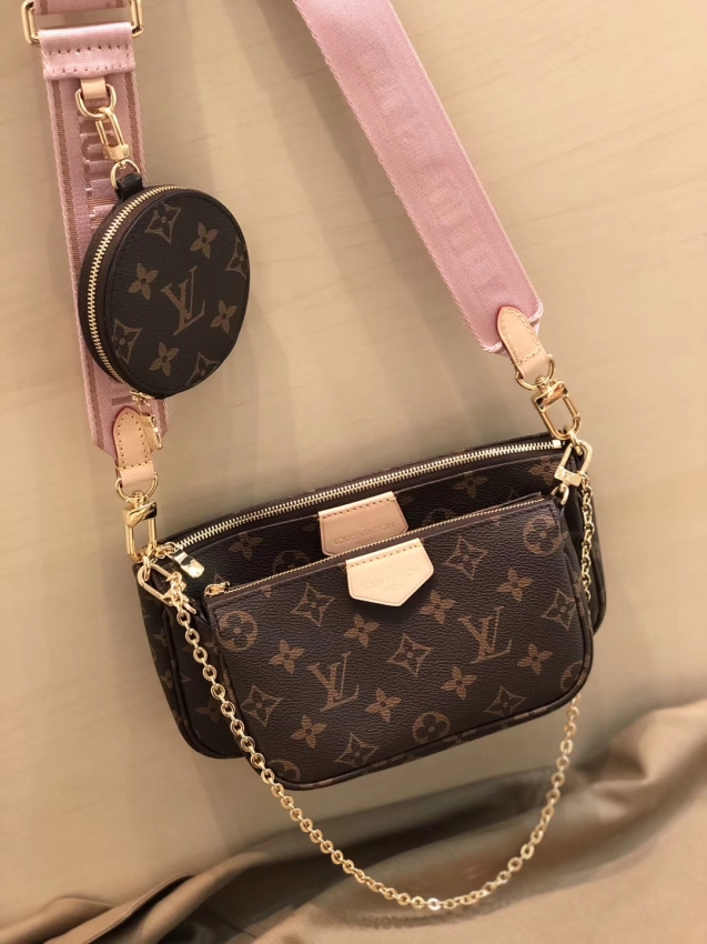 Louis Vuitton Monogram Multi Pochette Accessoires Coin Purse M44840 Rose Clair Purses And Handbags Louis Vuitton Louis Vuitton Monogram