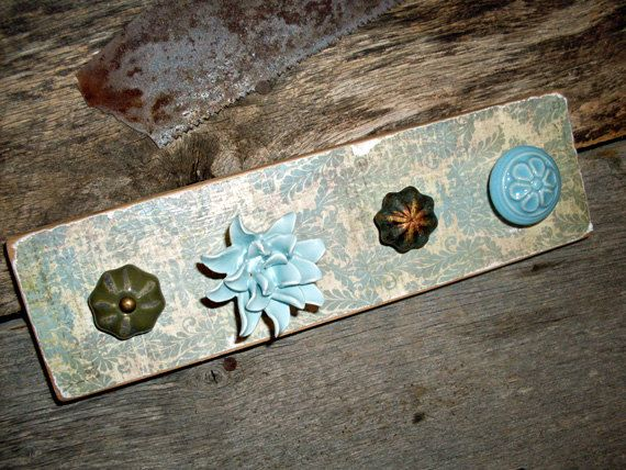 Damask Print Necklace Holder with Green and by TheBarnOwlBoutique, $26.00