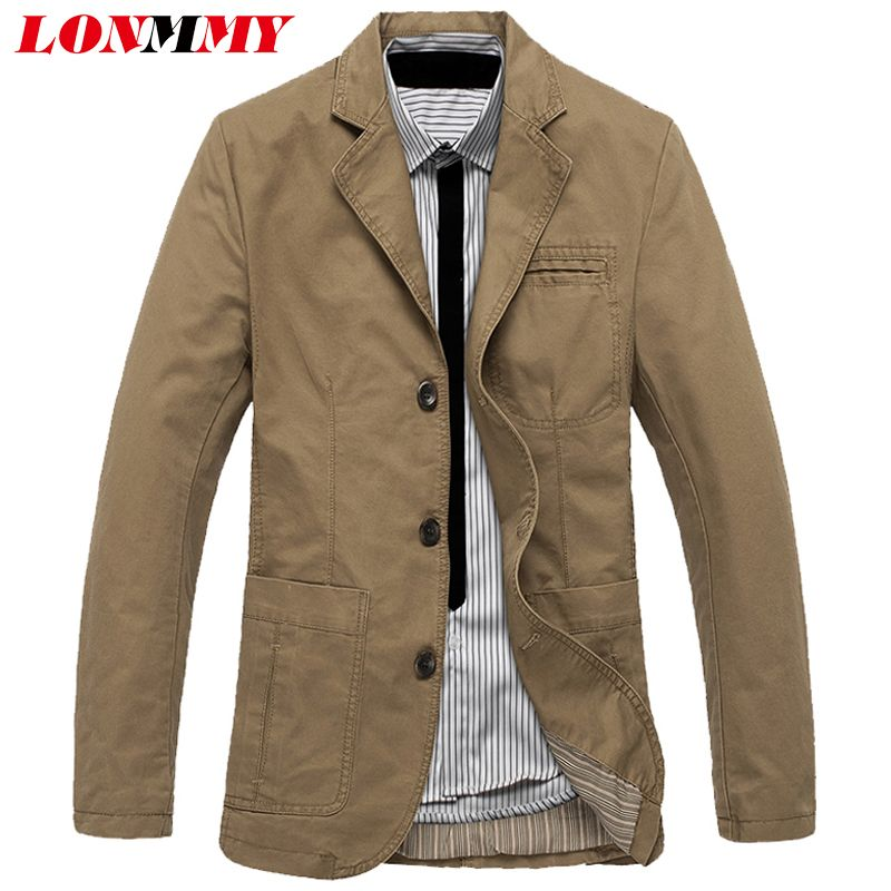 >> Click to Buy << LONMMY M-4XL Jacket men blazer Cotton Suits for men blazer jacket men jaqueta Three button Brand-clothing Casual 2017 New #Affiliate