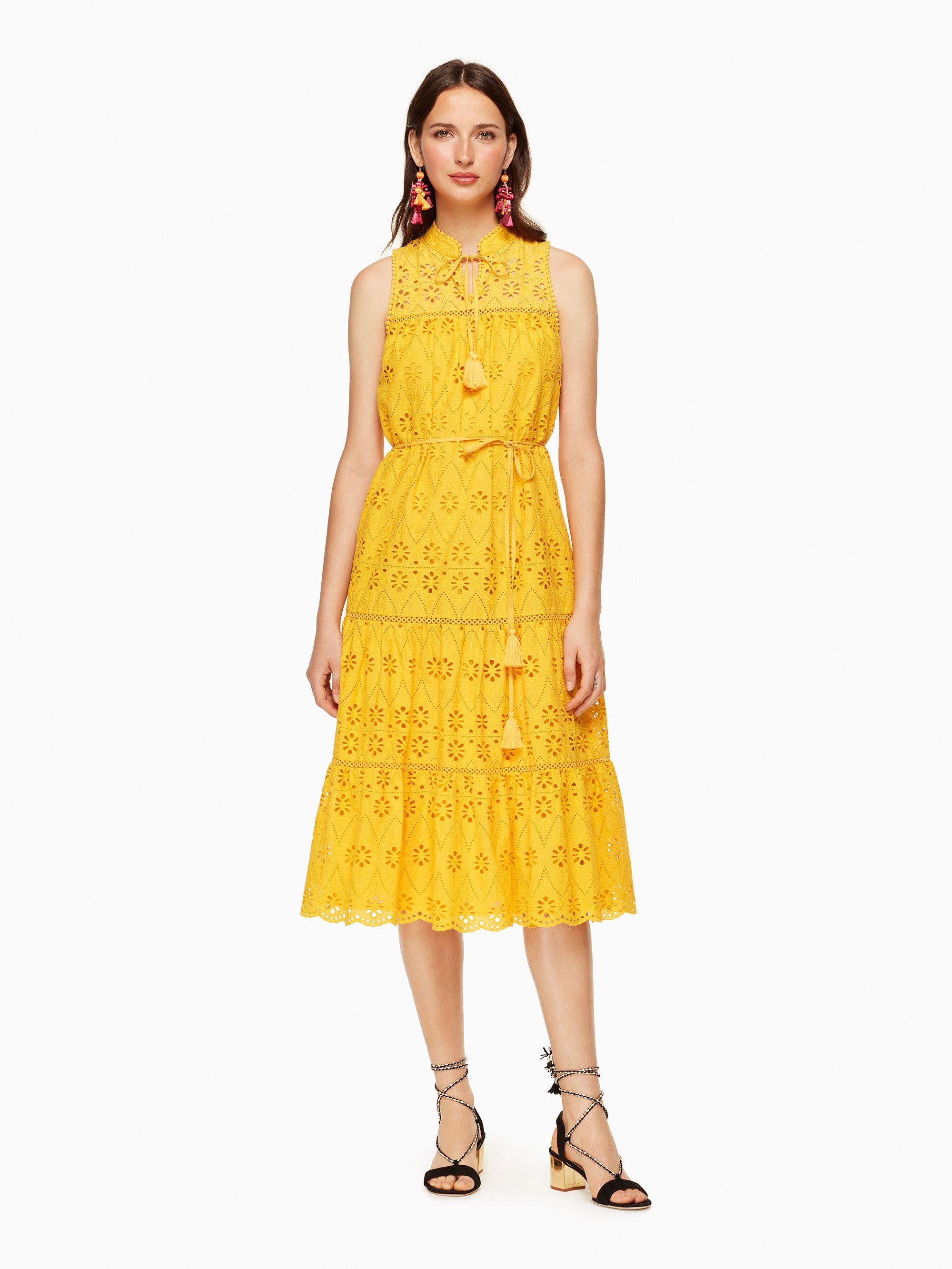 the perfect yellow eyelet patio dress kate spade new york