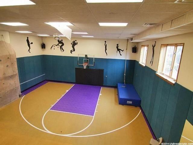 1937 E Siesta Dr Sandy Ut 84093 Home Basketball Court Indoor Basketball Court Basketball Themed Bedroom