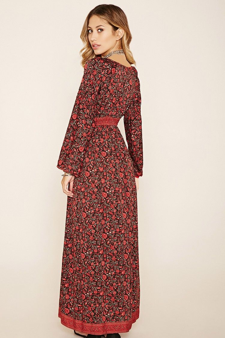 A woven maxi dress by r by raga featuring an allover floral print
