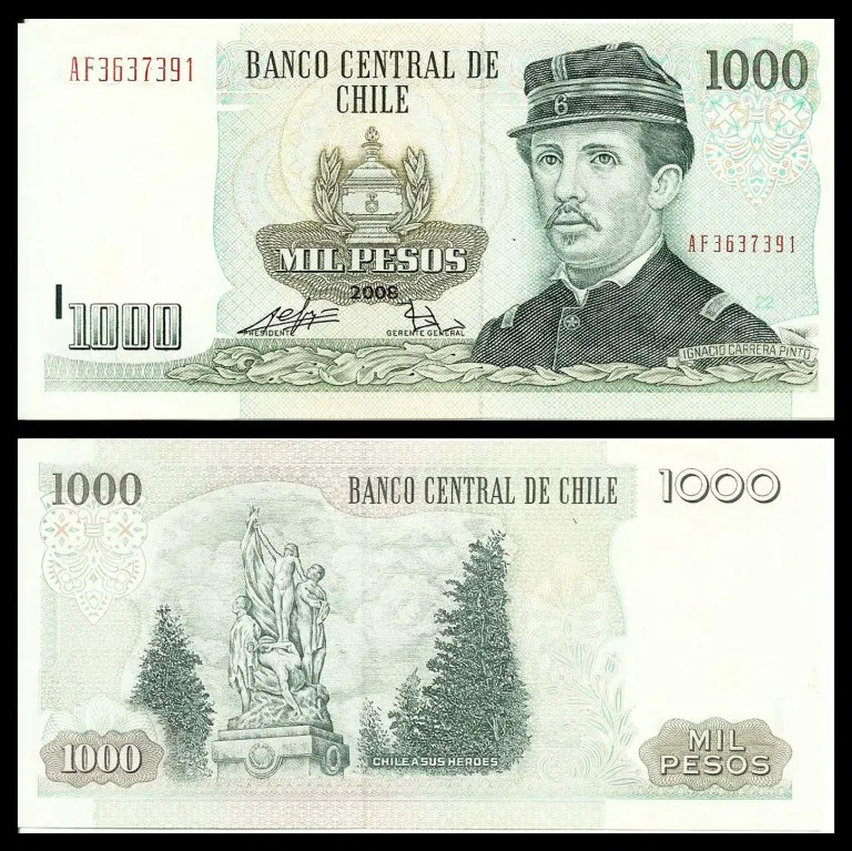 Chile 1 Peso Used Coin Banknotecoinstamp Com Billetes De Banco Billetes Billetes Del Mundo