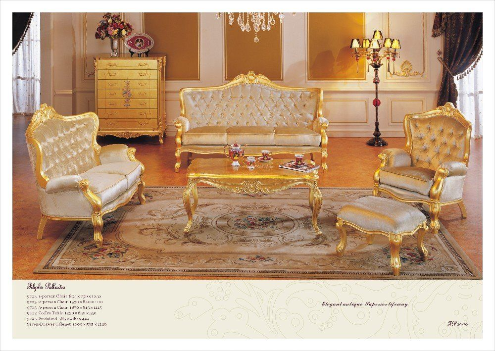 Versailles sofa,classical furniture for home,baroque golden living ...
