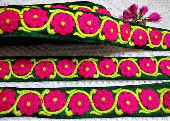 Embroidered Ribbon Trims Decorative Border
