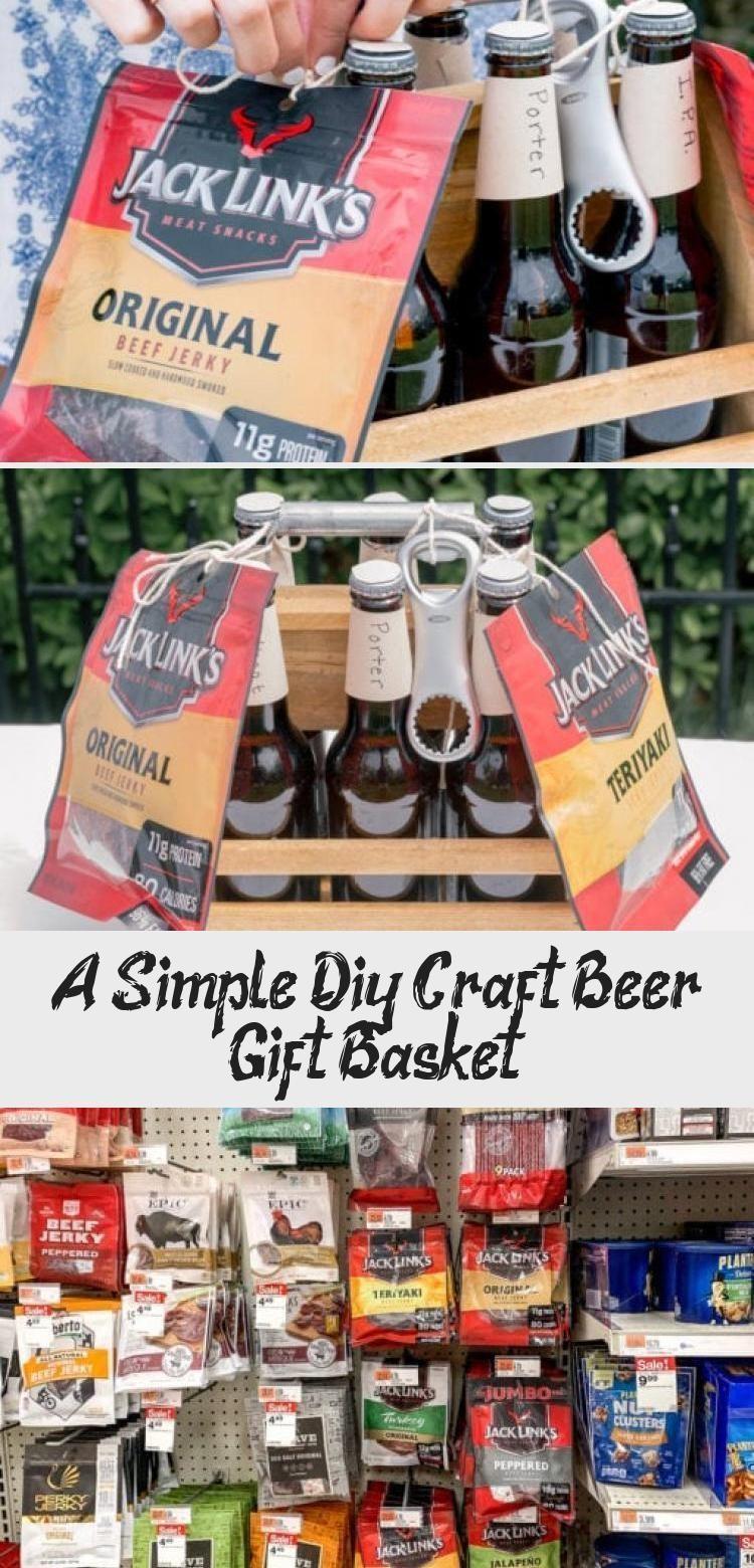 A Simple Diy Craft Beer Gift Basket Basket Beer Craft Diy Gift Simple A In 2020 Craft Beer Gift Basket Beer Gifts Basket Craft Beer Gifts
