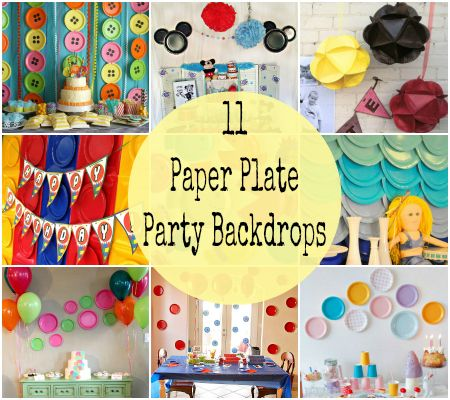 11 Simple and Unique Paper Plate Birthday Party Backdrops