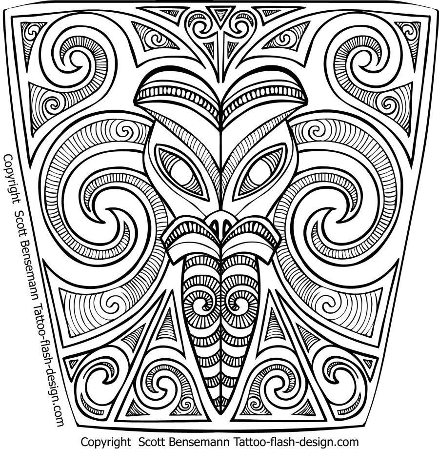 Free Tribal Maori Tattoo sleeve designs forearm | Maori ...