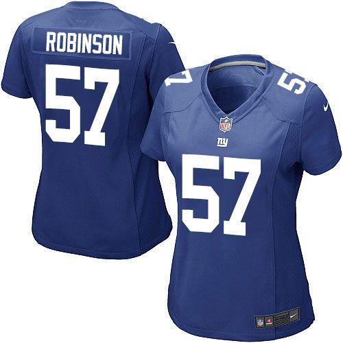 b88ea082cc3 Women s Nike New York Giants  57 Keenan Robinson Game Royal Blue Team Color  NFL Jersey