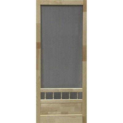 Screen Tight Sumter Wood Natural Wood Screen Door (Common: 32 In X 80