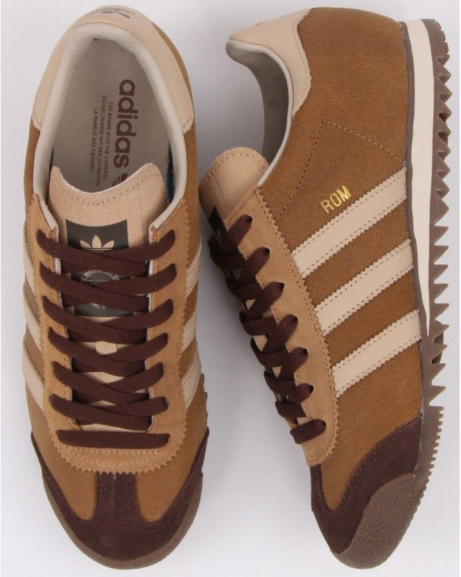 Adidas Rom Trainers vintage Brown – Adidas shoes mens   Adidas ...