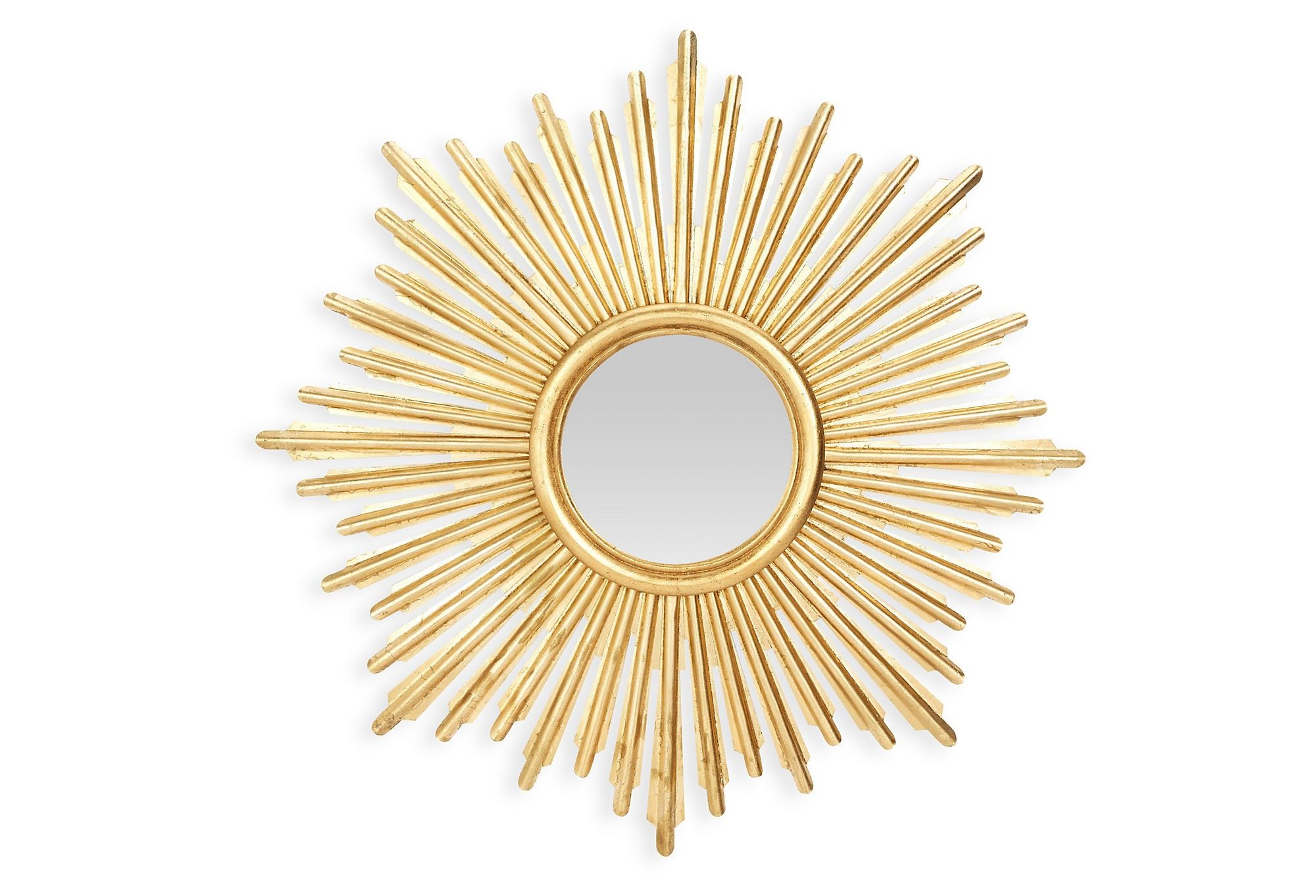 Iron Sunburst Mirror in Antique Gold Finish | Sunburst mirror ...