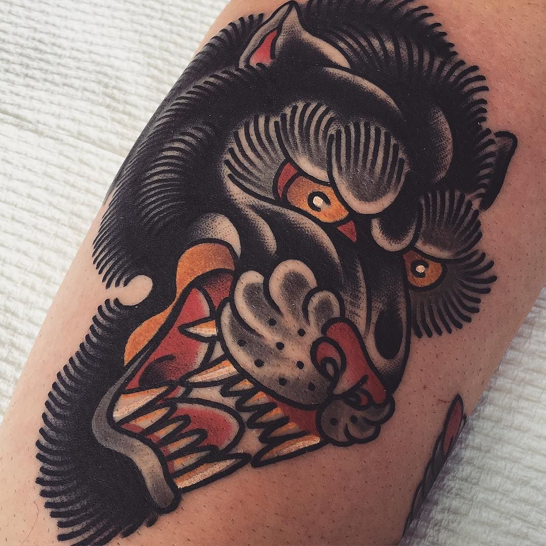 Traditional Japanese Style Angry Wolf Tattoo Wolf Tattoo Traditional Japanese Tattoo Trendy Tattoos